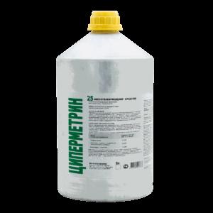 ЦИПЕРМЕТРИН 25 профессиональный инсектоакарицид, алюминиевая канистра 5 л